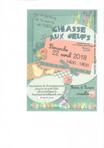 Flyer chasse à l'oeuf